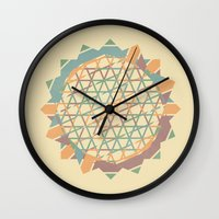fractal Wall Clocks featuring Fractal by Zach Terrell