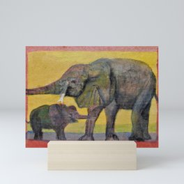 Elephants Mini Art Print