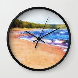 Colors of Water Wall Clock