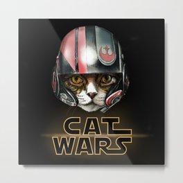 Cat Wars Dameron Metal Print