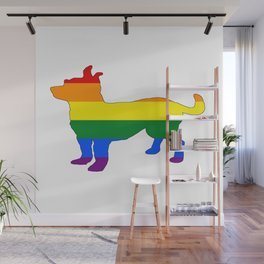 Rainbow Chihuahua Wall Mural