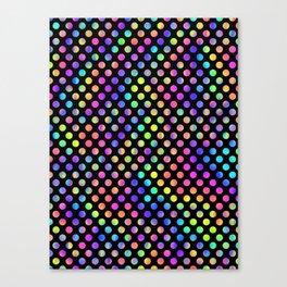 Rainbow Polka Dot Pattern Canvas Print