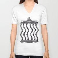 berlin V-neck T-shirts featuring Berlin by Jan Luzar