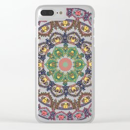Pug Squat Medallion Clear iPhone Case