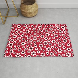 Dizzy Daisies - Red 2 - more colors Rug