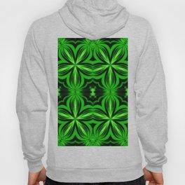 Vivid Green Electric Flower Pattern Hoody