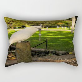 The Yellow-Crested Cockatoo  Rectangular Pillow