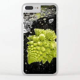 romanesco sprouts in the water Clear iPhone Case