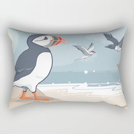 Coastal Birds By The Sea Rectangular Pillow