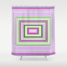 Purple, Lilac, Green Decorative Design, ideal for bedding, leggings, etc Shower Curtain