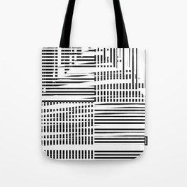 jumbled stripes Tote Bag