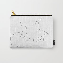 Woman's neckline illustration - Ali Carry-All Pouch