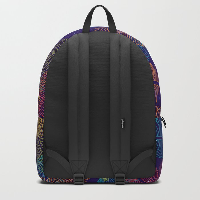 Neon Feathers Backpack