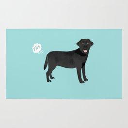 Black Lab funny fart dog breed gifts labrador retrievers Rug