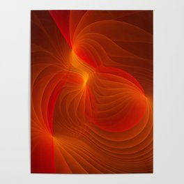 Much Warmth, Abstract Fractal Art Poster