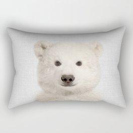 Polar Bear - Colorful Rectangular Pillow