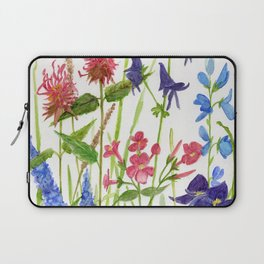 Garden Flowers Botanical Floral Watercolor on Paper Laptop Sleeve