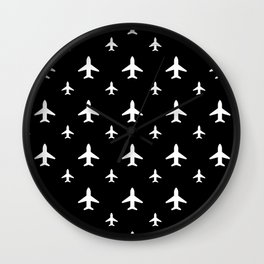 Midnight Jets Wall Clock