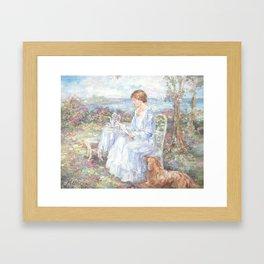 A Letter for Rose Framed Art Print