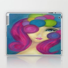 Blue Face Girl w/o Quote Laptop & iPad Skin