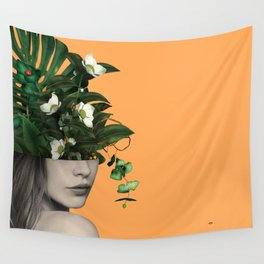 Lady Flowers Vlll Wall Tapestry