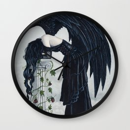 Despair Gothic Angel Wall Clock