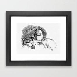 Warbot Sketch #042 Framed Art Print