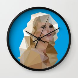 Cyan Blonde Wall Clock