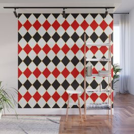 Retro checkered with golden threads Wall Mural