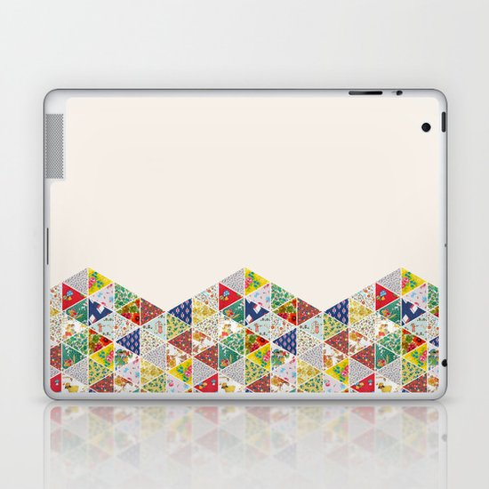 Geometric Floral Quilt Laptop & iPad Skin