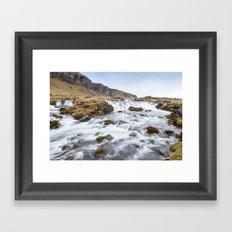 Iceland Waterfall Framed Art Print