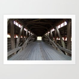 Inside A Covered Bridge Art Print