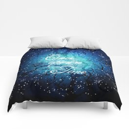Once Upon A Time ~ Winter Snow Fairytale Forest Comforters
