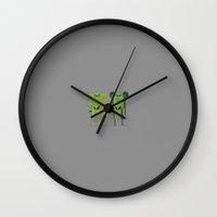 return Wall Clocks featuring Return by Archymedius