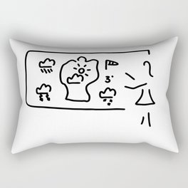weather forecast weather tv Rectangular Pillow