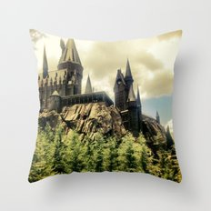 Hogwarts School of Witchcraft and Wizadry  Throw Pillow