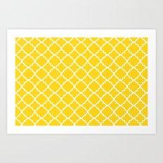 Moroccan Mustard Art Print
