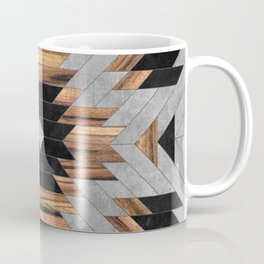 Urban Tribal Pattern No.6 - Aztec - Concrete and Wood Coffee Mug