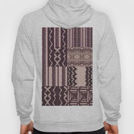 Patchwork Geometric Print in Black, Grey & White Hoody