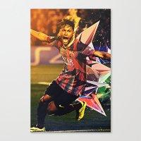 neymar Canvas Prints featuring Neymar by Max Hopmans / FootWalls