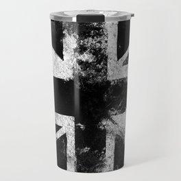 Black Grunge England flag Travel Mug