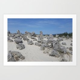 Stone forest Art Print