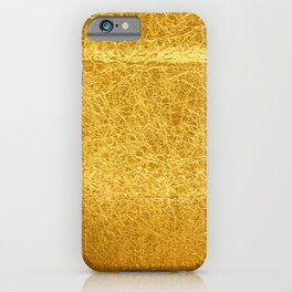 Crinkled Gold Foil Texture Christmas/ Holiday iPhone Case