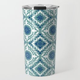Poolside Tile Pattern Travel Mug