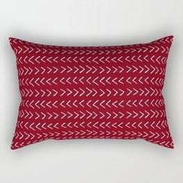 Arrows on Maroon Rectangular Pillow