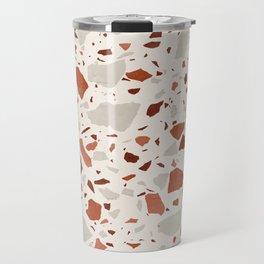 Abstract Brown Terrazzo Travel Mug