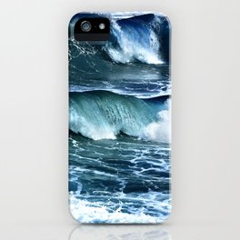Deep Blue Waves iPhone Case