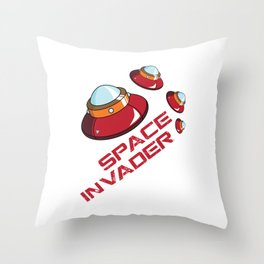 Space Invader Throw Pillow