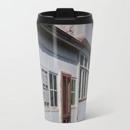 Weathered White Building Travel Mug