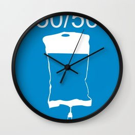 Minimalist 50/50 Wall Clock